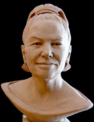 image of Karen T. Taylor's sculpture of Mrs. Thomas Hart Benton, V.