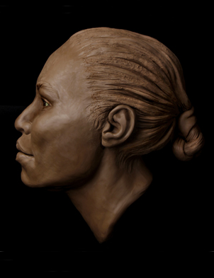 image of facial reconstruction sculpture by Karen T. Taylor