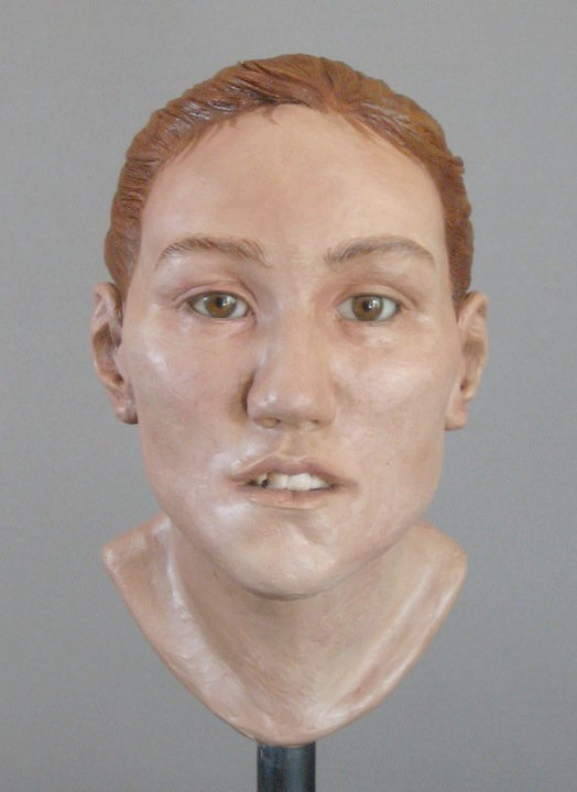 image of facial reconstruction sculpture done by karen t. taylor for the Chicago Jane Doe case