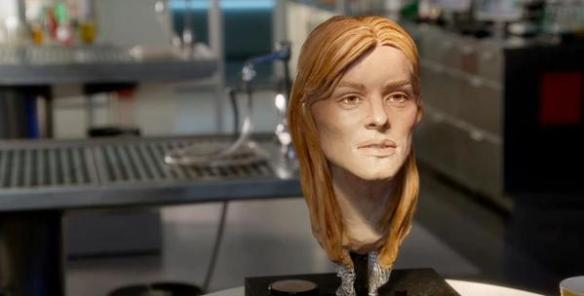 image of facial reconstruction done by Karen T. Taylor for Body of Proof