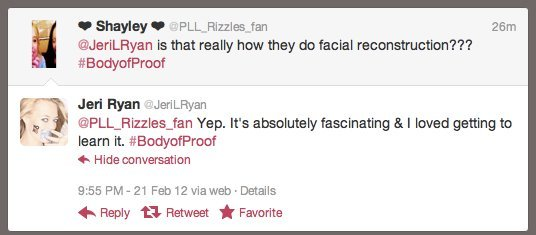 image of a tweet from jerk ryan to a fan in reference to facial reconstruction