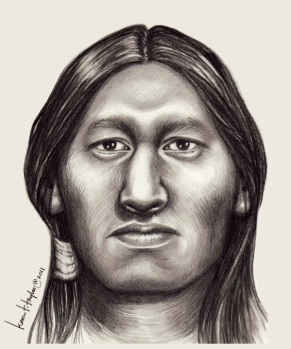 image of historical reconstruction done by karen t. taylor