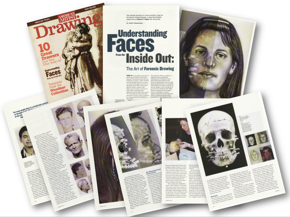 American Artist Drawing Karen T Taylor Facial Images
