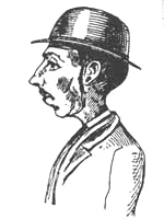 Early police composite sketch in case of Percy Lefroy Mapleton