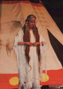 Barbara in Native American dress