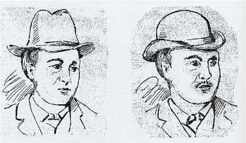 Composite sketches done in the Ripper murder investigation